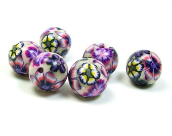 Flower Handmade Polymer Clay Beads