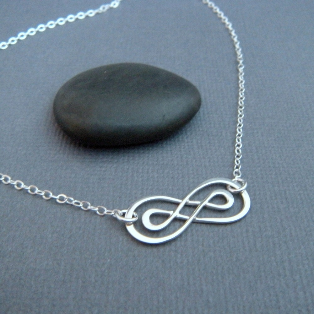 Infinity Necklace Sterling Silver Double Infinity Necklace