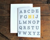 Hi - Typography Hello Greeting Card
