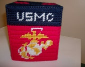United States Marines Tissue Box Cover