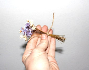Star flowers-30 Dried Mini Wedding flowers-pink-purple-yellow-green small flowers-Your color choice