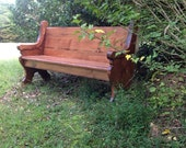 "62"" Wooden Church Pew"