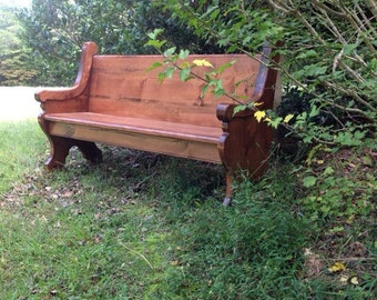 """62"""" Stained (English Chestnut) Wooden Church Pew"""