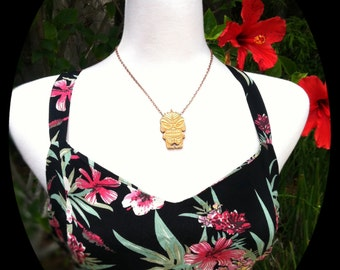 Small Creature from the Black Lagoon Tiki Necklace