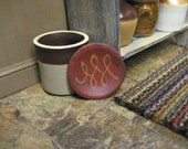 RESERVED Miniature Redware PLATE Country Dollhouse