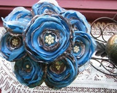 Jillianns TURQUOISE and CAMOUFLAGE BOUQUET with a touch of tulle and pearls