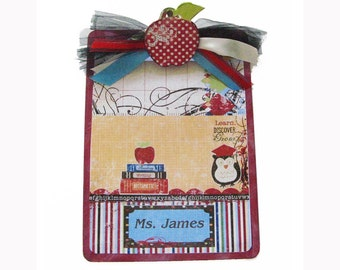 Teacher Gift Clipboard Personalized School Days 2 sided