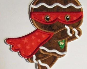 Super Hero Gingergread Men - Iron On Christmas Appliques