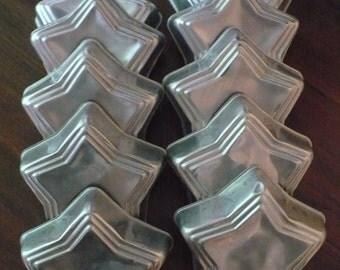 Vintage Star Aluminum Molds Tart Jello