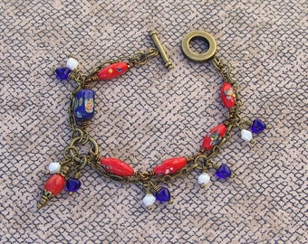 Red Porcelain Bead Bracelet - Chinese Lantern