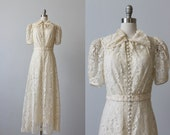 1930s Wedding Dress / Lace Wedding Dress / 30s Wedding Dress / Ophelia