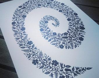 Koru spiral - Print