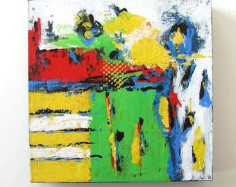 Yellow acrylic Abstract Painting, Wall Decor, Art,  Living and Home, Modern Home Decor