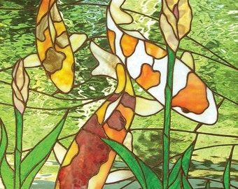 Kio fish Stained Glass Window