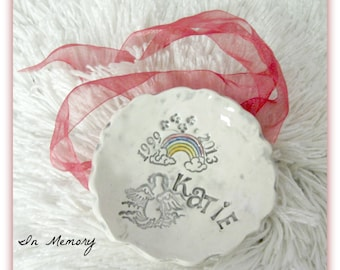 Dog or Puppy Memorial  Memory Bowl Trinket Dish