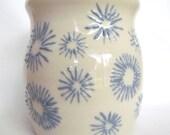 Blue and White Pottery Utensil Holder Wine Cooler