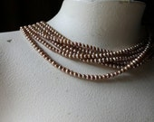 Pearls Freshwater 4mm Copper Rose for Bridal, Embroidery, Jewelry  PRL
