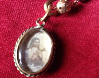 St Therese religious necklace