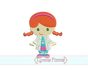 Doctor Girl FILLED MINI 4x4 Machine Embroidery Design