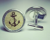 Anchor Pewter Cufflinks