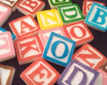 Cake Decorations Letters Uk : 5 Letter Edible Fondant Candy Block Letters-Cake/Cupcake ...