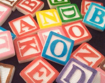 Alphabet cake topper etsy for Alphabet blocks cake decoration