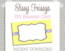 INSTANT DOWNLOAD - DIY Easter Business Card - Digital File - Blank Template - Business Card File - Earring Jewelry Card - 182100422