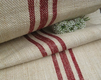 antique handloomed BRICKRED 39.348 yard twill fabric strong and stiff, stairrunner projects