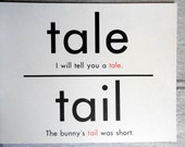 in/inn/tail/tale 2 sided oversized flash cards
