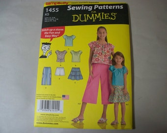 New Simplicity Girl's Clothing  Pattern, 1455  K5 (7, 8, 10, 12, 14) (Free US Shipping)