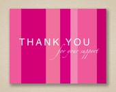 Breast Cancer Support Thank You Cards - For Charity Events, Runs, Walks and More