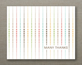 10 Recycled Mid Century Thank You Cards and Kraft Envelopes - Graduated Circles - Harry