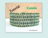 Connye Superduo and Swarovski Beadwork Bracelet PDF Tutorial