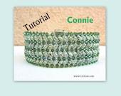 Connye Superduo and Swarovski Beadwork Bracelet PDF Tutorial