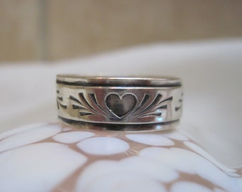 You Own My Heart Sterling Silver 8 mm Wide Band Promise Ring BFF Rings