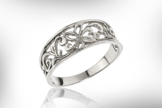 Woman Gift Vintage Flower Lace Ring Gift Under 100 Bridal Jewelry For Her