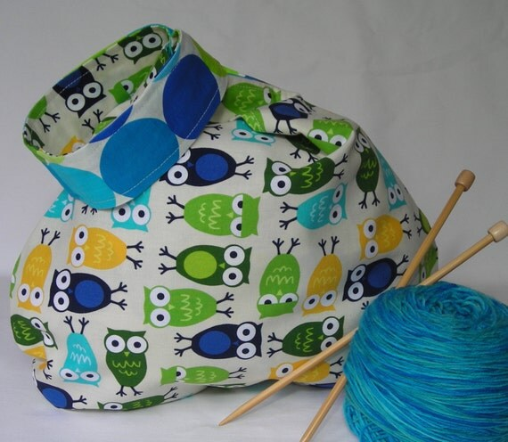 Knitting Project Bags For Sale : Sale knitting crochet project bag japanese knot medium