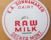 Rare Collectible Lot of 6 Vintage 1930s/ 1940s E.A. Sonnamaker Dairy Milk Caps/ Pogs From A Decker Mont. (Montana) Dairy Ranch Memorabilia