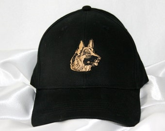 Pet Lover Hat - German Shepherd- Baseball Cap - Black - Personalized - Embroidery