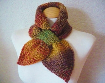 Ascot Bow Scarf in Autumn Colors - Womens - Teenagers