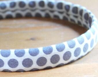 evie lala grey dot headband