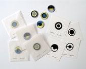 Set of 8 Embroidered Pattern Badges