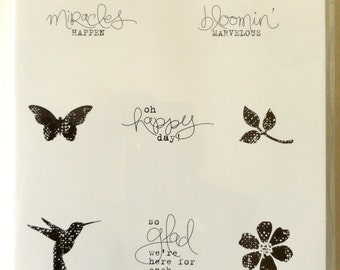 Stampin' Up! Bloomin' Marvelous Rubber Stamp set