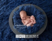 Faux Flokati Photo Props, Apollo Blue Newborn Photography Props, Artificial Fur, Newborn Babies, Fabric, Colorful, BaSkeT StuFfeR, Boy Prop