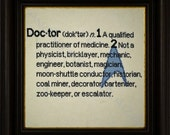 Doctor Definition Cross Stitch Pattern