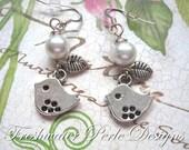 Little Bird Pearl Earrings