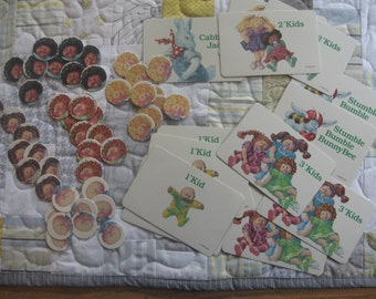 Lot of Adorable Vintage Game Pieces from a 1984 Cabbage Patch Kids CPK Board Game