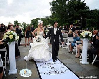 Aisle Runner, Wedding Aisle Runner, Custom Aisle Runner, with Monogram on Quality Fabric that Won't Rip or Tear