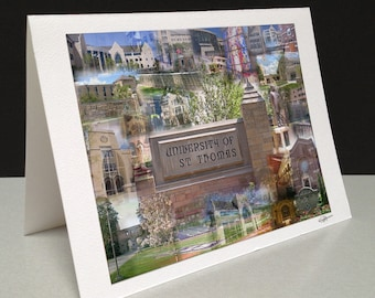 Tommies Tried and True 5 x 7 Greeting Card - University of St. Thomas, Saint Paul MN