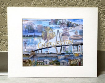 Lowcountry Love 11 x 14 Matted Print - Charleston, SC